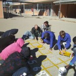 Painting 100 Block: The team paints Maths games on several schools grounds for the learners to use during break, with the aim of sparking creativity and interest for Maths.